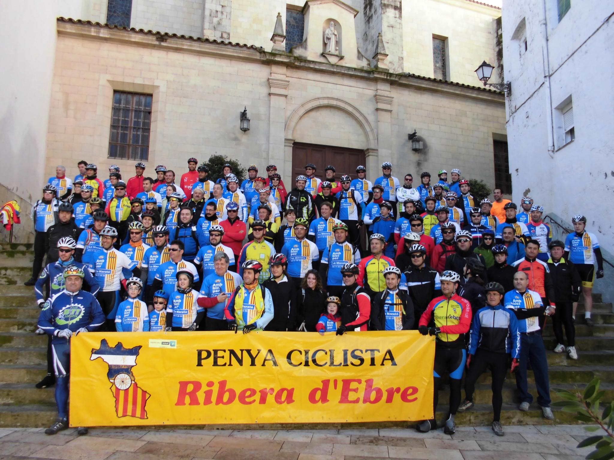 Trobada BTT a benefici de La Marató de TV3 feta a Móra d'Ebre per l'edició de 2012.